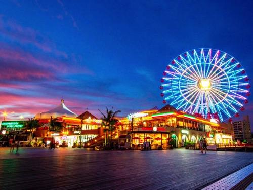 沖縄県北谷の夜景画像