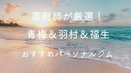 青梅&羽村&福生のパーソナルトレーニングジムおすすめ5選の画像